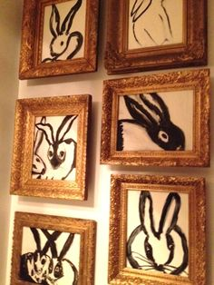 black and white bunnies