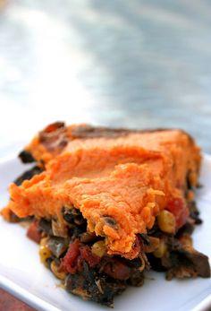 Southwestern Sweet Potato Shepherds Pie... I was envisioning this ...