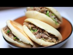 This is my recipe for Chinese hamburgers. It is a popular dish from China and is enjoyed across the country. Chinese hamburgers blend eastern flavors with a . Chinese Hamburger Recipe, Hamburger Recipes, Asian Recipes, My Recipes, Healthy Recipes, Ethnic Recipes, Chinese Recipes, Healthy Food, Traditional Chinese Food
