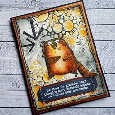 These Tim Holtz stamps are neatly trimmed, deeply etched, and made with high quality rubber in the USA! Approximate Measurements: Cats range in size from x inches to x inches Tim Holtz Dies, Tim Holtz Stamps, Crazy Bird, Crazy Cats, Crazy Animals, Cat Cards, Greeting Cards, Card Tags, Gift Tags