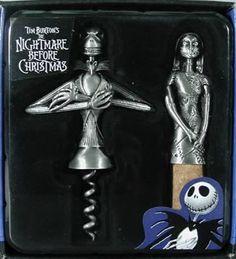 Jack & Sally Corkscrew & Bottle Stopper Set ~ Nightmare Before Christmas