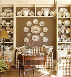 The Enchanted Home: Decorating with transferware.......I may have already pinned this! Love it!