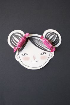 Candy Hairbow Valentine Face