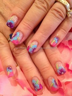35 Of The Best Summer Nail Art Ideas.tropical flowers
