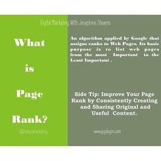 What's your Page Rank #digitalmarketing #marketing
