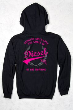 Relaxed Pullover Hoodie - Smell of Diesel - Country Fashion Clothing Country Girl Shirts, Country Wear, Country Girls Outfits, Country Girl Style, Country Fashion, Shirts For Girls, Country Life, Country Quotes, Real Country Girls