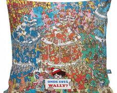 """Almofada """"Onde está Wally?"""""""
