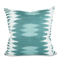 LOVE these for bed with white linens!!! Teal Ikat Pillow
