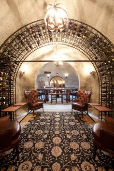 Gorgeous wine cave and tasting room at Walker's Bluff in Carterville, IL.
