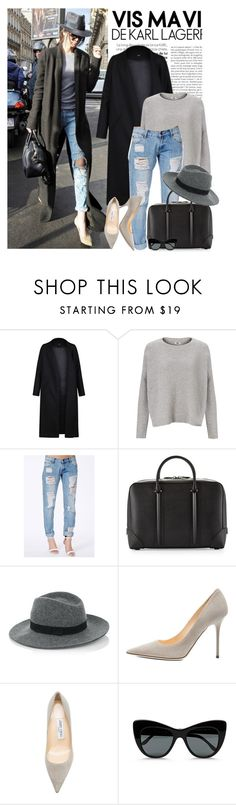 """""""Celebrity look: Kendall Jenner"""" by monmondefou ❤ liked on Polyvore featuring Non, Kin by John Lewis, Missguided, Givenchy, Warehouse, Jimmy Choo, STELLA McCARTNEY and celebstyle"""