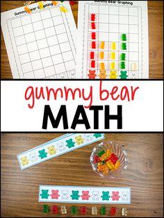 Gummy Bear Math Printables - PreKinders