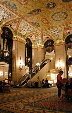 I stayed here for NEA quality schools training, it is gorgeous.The Palmer House Hilton is a famous and historic hotel in downtown Chicago. Chicago Hotels, Chicago Travel, Chicago City, Chicago Illinois, Barack Obama, Spas, The Places Youll Go, Places To Visit, The Blues Brothers