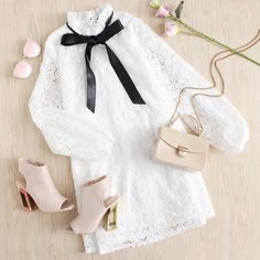 """Meet the V-day lace dress that's more """"need"""" than """"want"""". shop the dress in bio Could I buy this? Girls Fashion Clothes, Teen Fashion Outfits, Cute Fashion, Look Fashion, Fashion Design, Cute Casual Outfits, Pretty Outfits, Stylish Outfits, Looks Chic"""