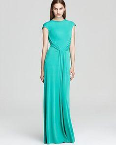 Issa London V Neck Dress - Cap Sleeve Open Back | Bloomingdale's