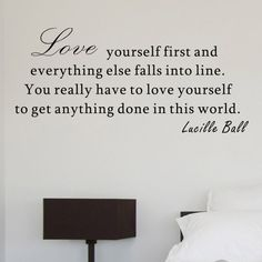 Love Yourself First Lucille Ball Wall Decal