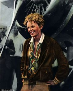 Pioneer: Amelia Earhart was a U. aviation pioneer born on July 24 who disappeared on July 2 She was the first female pilot to fly solo across the Atlantic but her Lockheed Model 10 Electra plane went down during her attempt to circumnavigate the globe American Civil War, American History, Amelia Earhart Plane, Mandalorian Poster, Evelyn Nesbit, Female Pilot, Aerial Images, Space Museum, Rosa Parks