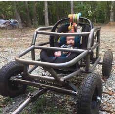 Custom Radio Flyer Wagon, Radio Flyer Wagons, Custom Power Wheels, Monster Truck Kids, New Toyota Land Cruiser, Kids Wagon, Diy Go Kart, Dropped Trucks, Sand Rail