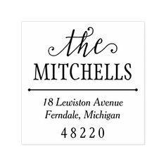 Noteworthy Name | Return Address Self-inking Stamp #personalized #rubberstamps Custom Rubber Stamps, Wood Stamp, Address Stamp, Self Inking Stamps, Ink Pads, Return Address, Stamping Up, Paper Design, Smudging