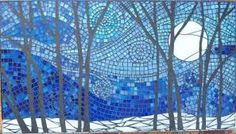 mosaic birch trees - Google Search