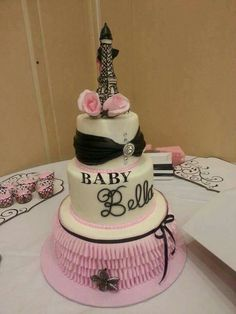 A touch of Parisian Elegance on a Pink Baby Shower