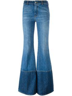 Alexander McQueen расклешенные джинсы
