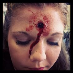 bullet wound in head makeup - Google Search