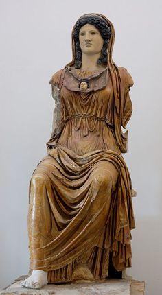 Minerva (Athena), Graeco-Roman statue (alabaster, basalt, marble, plaster), 1st century BC / 1st century AD, (Palazzo Massimo alle Terme, Rome).