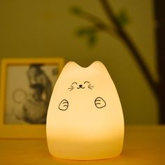 Colorful Cat Cartoon USB Charging LED Ombre Night Light