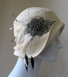Admired by #CliffHowardArtist (FalconFabrics.com.au) Costume Hats, Love Hat, Flapper Hat, Cloche Hats, Crazy Hats, Vintage Outfits, Vintage Hats, Hat Pins, Hat Boxes