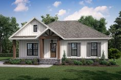 This modern farmhouse plan gives you cool details and smart features throughout (like a stylish island kitchen and spa-like master bathroom). Questions? Call 1-877-222-1762 today. #architect #architecture #buildingdesign #homedesign #residence #homesweethome #dreamhome #newhome #newhouse #foreverhome #interiors #archdaily #modern #farmhouse #house #lifestyle #design #buildersareessential