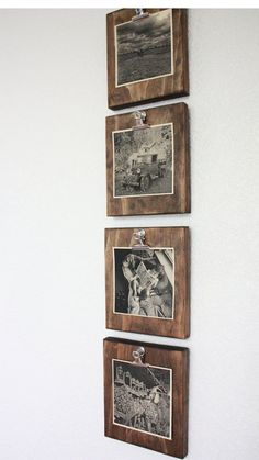Set of FOUR Rustic Wall Clip Frame, Picture Display, Ins .- Set of four 4 rustic wall clip frames picture display -