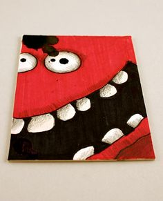 Red Monster Original ACEO Drawing by Aaron Butcher by Aaronbutcher, $5.00
