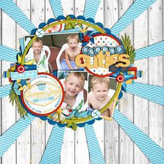 love this layout. so fun. cool wood background. awesome composition. fun layout. #scrapbooking #layout