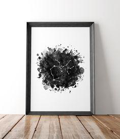 Astrological Sagittarius print, Zodiac art print, Sagittarius Constellation print, Astrology wall art by HamptyDamptyArt on Etsy