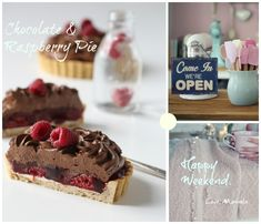 Recipe for chocolate & raspberry pie.  Follow me on Instagram @passionforbaking  #chocolate #raspberry #pie #baking