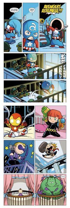 Baby avengers assemble!!!!!