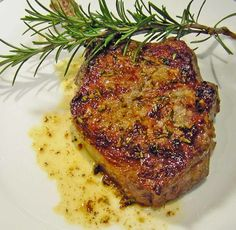 Pan Seared Veal Chops With Rosemary