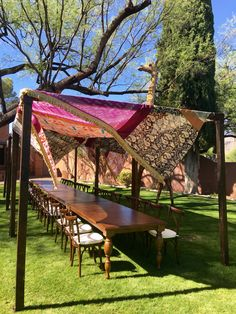 Fruitwood canopies with fabric treatment