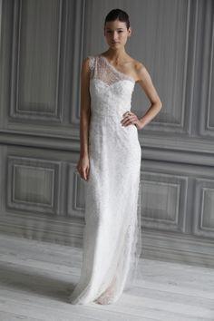 Wedding Dresses: One-Shoulder Gowns | InsideWeddings.com