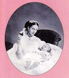 Princess Alexandra, Princess of Wales (Queen Alexandra) with Prince Albert Victor, (Duke of Clarence and Avondale) in 1864 English Royal Family, British Royal Families, Queen Victoria Family, Victoria And Albert, Prince And Princess, Princess Of Wales, Princess Diana, Familia Windsor, Princess Alexandra Of Denmark