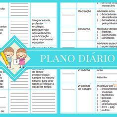 Sugestão de plano diário