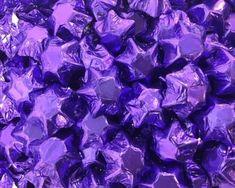 A bulk Foiled Chocolate Stars Purple box.