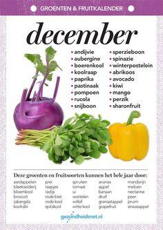 Seizoensgroenten december | Gezondheidsnet I Love Food, Good Food, Yummy Food, Healthy Dishes, Healthy Recipes, Happy Foods, Seasonal Food, Fruits And Veggies, Clean Eating Recipes