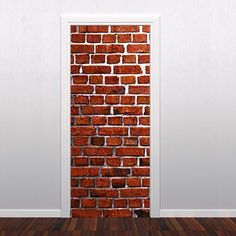 Brick Wall Door Sticker - Moon Wall Stickers
