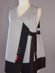 handwoven side tie vest