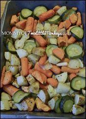 Toddler approved baked vegetables recipe