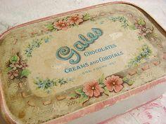 pretty vintage candy box