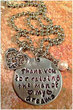Sale Thank You For Raising The Man Of My Dreams or by ILLBECHARMED, $20.00