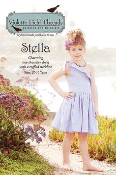 VIOLETTE FIELD THREADS pattern Stella Dress for by FiggFabric