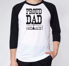 Proud Dad Of... - Fathers Day Jersey Personalized With Any Names